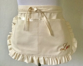 Bridesmaid Apron, MADE TO ORDER, Bridal Apron, Bridal Party Aprons, Personalized Aprons, Vendor Aprons