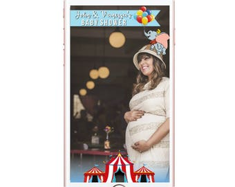 Circus Geofilter Dumbo Geofilter Baby Shower Fully Customizable Birthday