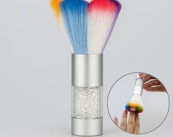 Colorful Dust Powder Glitter Remover Cleaner Brush Soft Rhinestones Crystal Makeup Foundation Acrylic Nail Art Polish Manicure