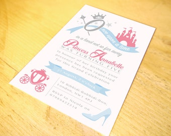 Princess Party Invitation • including Envelopes