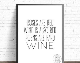 Wine - A3 Digital Printable file