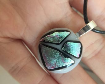 iridescent necklace pendent