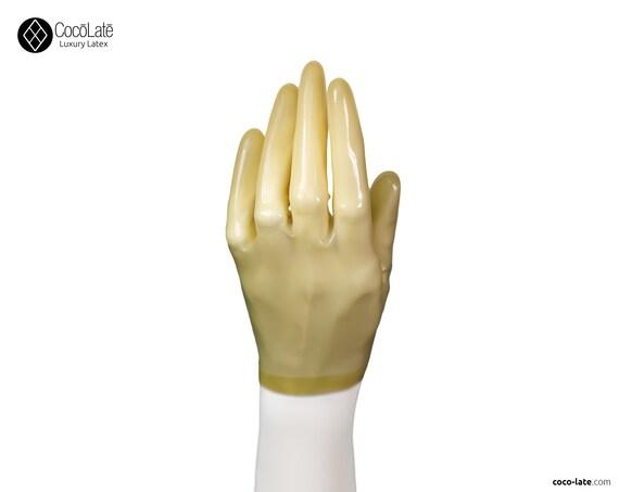 Latex Short Gloves - Transparent natural color
