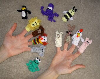 Fun Finger Puppets by the Dozen PDF Crochet Pattern