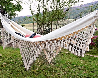 Luxury Hammock,King Size,White Hammock, Bridesmade Gift, Wedding  Decoration, Indoor