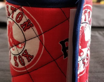 Quilted Red Sox Can Koozy