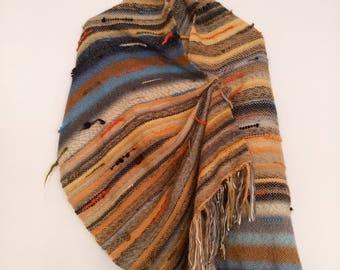 Handwoven handmade saori style scarf shawl wrap