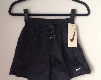 Deadstock Nike Black Shiny Shorts Boys Size Medium