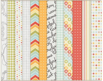 Life Unscripted Papers- Digital Scrapbooking Papers INSTANT DOWNLOAD