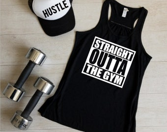 Straight Outta The Gym Tank Top, Gym Shirts, Gym Tank Tops, Workout Clothes, Workout Tank Tops, Fitness Apparel, Fit Pink