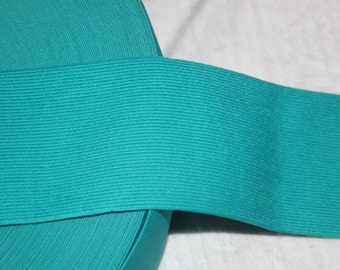 """1 yard Teal Green 2.75"""" wide boxer knit waistband sewing knitted elastic"""