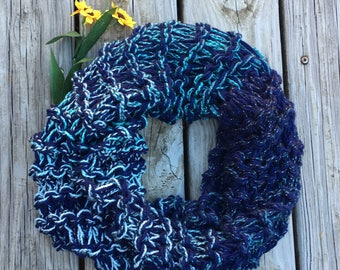 Ready to Mail Blues Cowl chunky knit, womens cowl, sassenach claire, chunky cowl, Miss claire Cowl, Claire Scarf