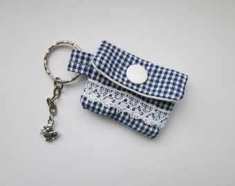Key chain mini purse maritim for lunch money