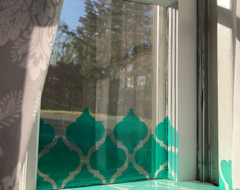 Mint Moroccan Window Privacy Cover