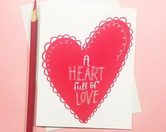A Heart Full of Love Les Miserables Love Card