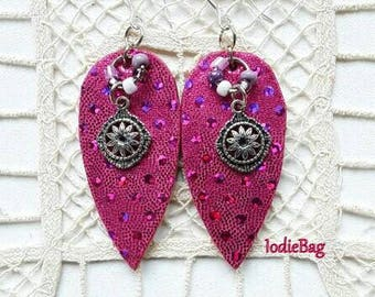 2 Pair @ 20.00 Leather Earrings / Hand Cut Leather