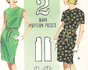 Vintage 1960s Sewing Pattern for Misses' Shift Quick 'N Easy - Miss Size 12, Bust 32, Butterick 3026 - Vintage 1960s
