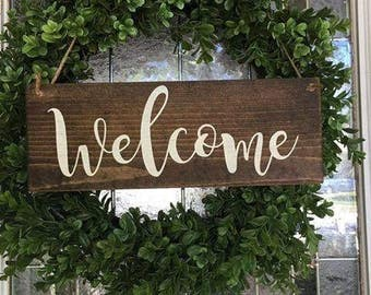 Hanging welcome sign | Etsy