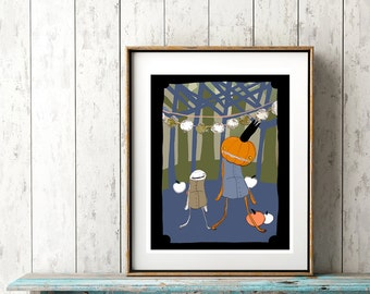 Walking with the Pumpkin King -  PRINT - various sizes
