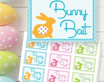 Easter Bunny Bait Gift Tags Printable Digital Download