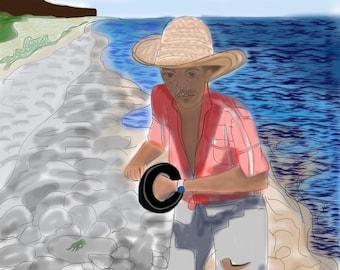 Cayman Digital Art 'Tenson fishin'in on the South Side'