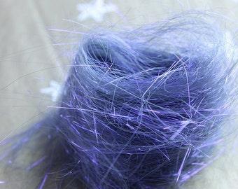 Ultraviolet Angelina fiber for spinning and felting