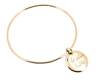 Bangle with a medal customized for MOM, sister, girlfriend...