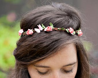 Boho Headband - Flower Crown Headband - Adult Headband Woman - Butterfly Headband - Womens Fairy Costume - Spring Boho Wedding Headband