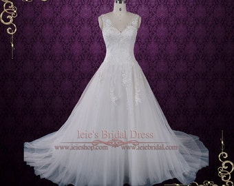 Classic Princess Lace A-line Wedding Dress | Lace Wedding Dresss | Cheryl
