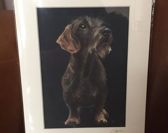 DACHSHUND giclee signed print of my original oil painting