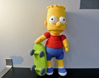 Crochet Bart Simpson Amigurumi - Handmade Crochet Amigurumi Toy Doll - Bart Simpson Crochet - Amigurumi Bart Simpson