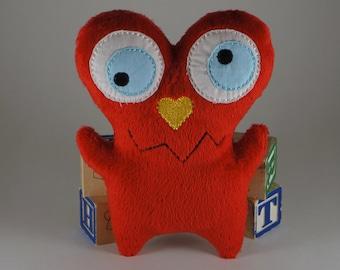 Red Love Monster Stuffie