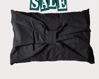 ON SALE - Dark Chocolate Bow Pillow case