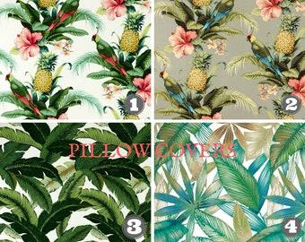 Outdoor-Kissen-Abdeckungen, tropischen Stoff, Tommy Bahama Stoff, Ananas Stoff, Strand Dekor, Sommer Dekor wählen Sie Größe und Menge