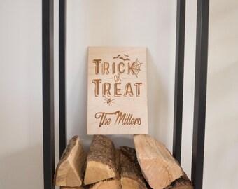 Halloween Decorations - Personalized Halloween Decor - Halloween Art - Trick or Treat - Halloween Door - Halloween Spider - Halloween Bat
