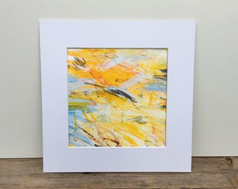 Abstract Painting, Original Painting, Acrylic Painting,  Yellow Painting, Yellow Abstract Art, Small Painting, Beach
