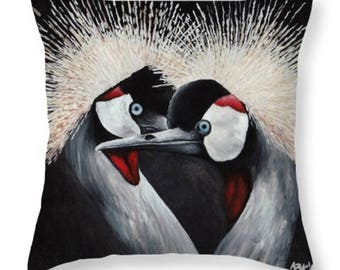 Crested Cranes Pillow