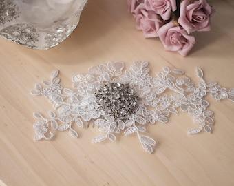 Hair Accessories Wedding - HAILEY Lace Hair Comb