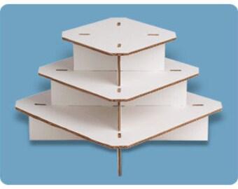Petite Square Cupcaketree, Cupcake Stand, Cupcake Stands.  Holds 36 cupcakes. DIY Cupcake Stand