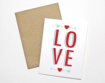 Love Card- Anniversary Card- Skinny LOVE