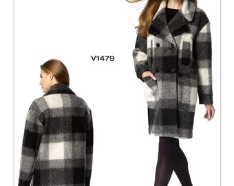 Vogue V1479 Misses' Double-Breasted Coat by Isaac Mizrahi