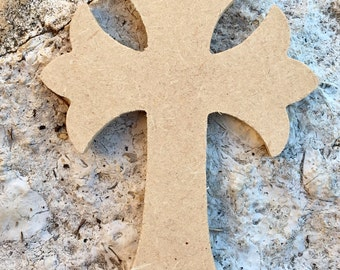 Medium Wooden Cross for Frame, Wreath, Decoration, Craft