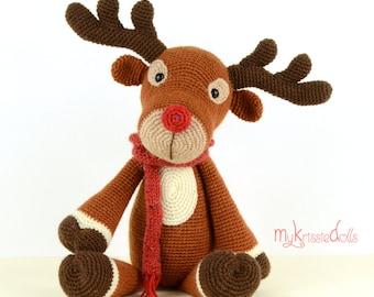 Crochet Pattern - Rudolf Reindeer