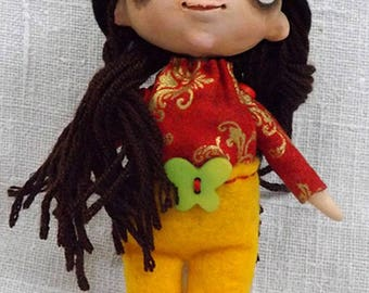 Brooch gift OOAK doll decorative doll Figurine small Pixie collection