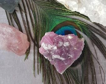 Pink Gemstone - Flourite Crystal - Pink Flourite Crystal - Pink Flourite Cluster - Flourite Cluster - Raw Pink Flourite Cluster