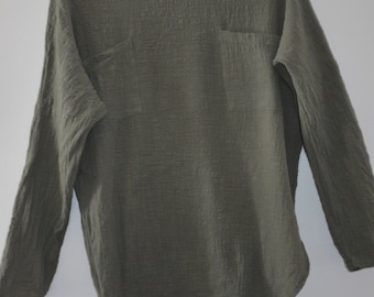 Get 15% off with code NEW15 blouse cotton 90's Green Khaki Medium