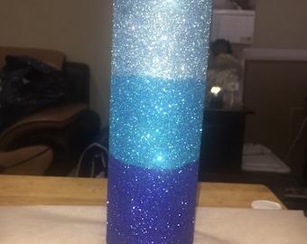 Ombré glitter vase