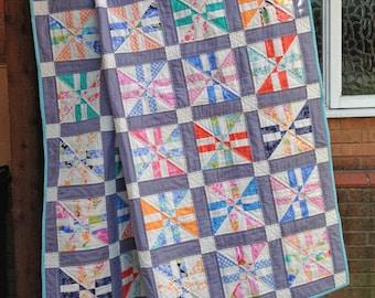 Quilt Pattern for Charm Packs,  PDF Quilt Pattern, Modern Quilt Pattern, Lap Quilt Pattern PDF, Instant Download - Mandeville Place
