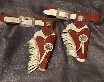 Sally Star play gun holster set 1950's