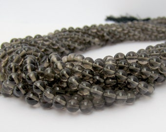 Smoky Quartz Beads, Round Smoky Quartz, Brown Beads, Smooth Rounds, 4mm Beads, Smokey Quartz Beads, Gemstone BeadsFull Strand
